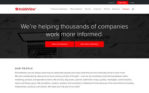 Screenshot of Jobs Page insideview.com - Careers - InsideView - captured Dec. 12, 2015