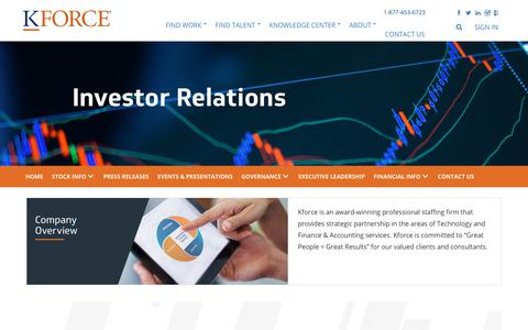 Kforce Inc. - Investor Relations