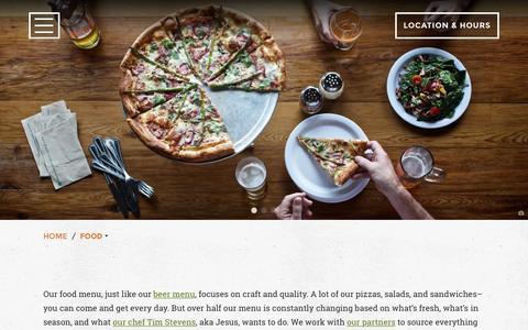 Screenshot of Menu Page theabgb.com - Food - The ABGB - captured Feb. 17, 2016
