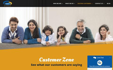 Screenshot of Testimonials Page mahendrahomes.com - MH5_Customer - Mahendra Homes - captured Feb. 22, 2020