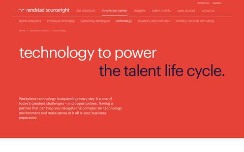 Talent Technology Solutions | Randstad Sourceright