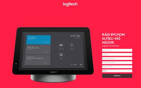 Screenshot of Landing Page logitech.com - Logitech SmartDock | Contact Us - captured April 26, 2017