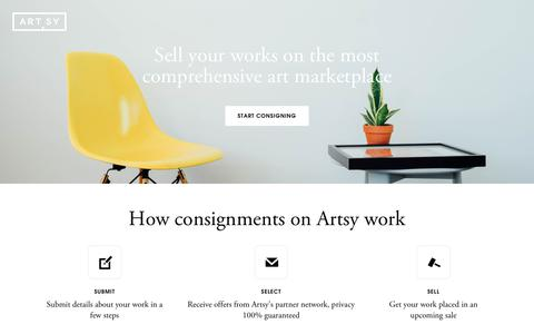 Consignments | Artsy