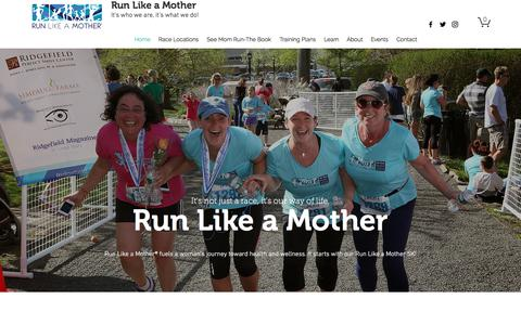 Screenshot of Home Page runlikeamother.com - Home | Run Like a Mother - captured Nov. 2, 2017