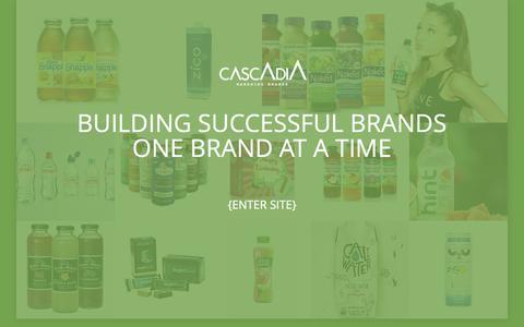Screenshot of Home Page cascadiamanagingbrands.com - CASCADIA MANAGING BRANDS - captured Sept. 27, 2018