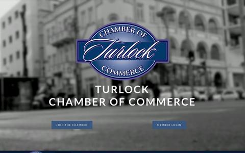 Screenshot of Home Page turlockchamber.com - Turlock Chamber of Commerce   Turlock, CA 95380 - captured Oct. 19, 2018