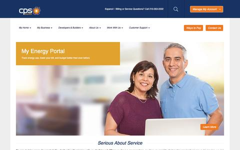 Screenshot of Support Page cpsenergy.com - Customer Support - captured July 9, 2016