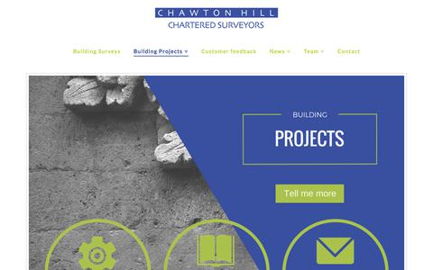 Screenshot of Services Page chawtonhill.com - Surveying Services Surrey - Chawton Hill Chartered Surveyors - captured July 24, 2017