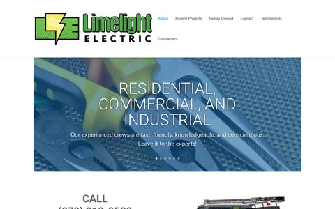 Screenshot of Home Page limelightelectric.com - Limelight Electric | limelight dev sight - captured Aug. 10, 2017