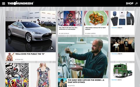Screenshot of Press Page thehundreds.com - News | The Hundreds - captured Oct. 29, 2014
