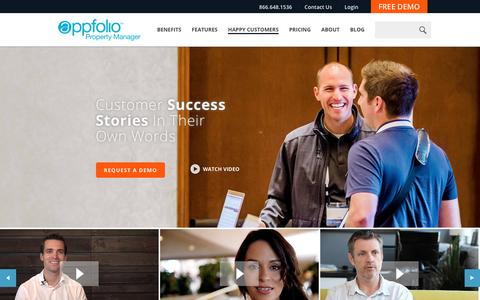 Screenshot of Case Studies Page appfolio.com - AppFolio Case Studies - captured Feb. 18, 2017