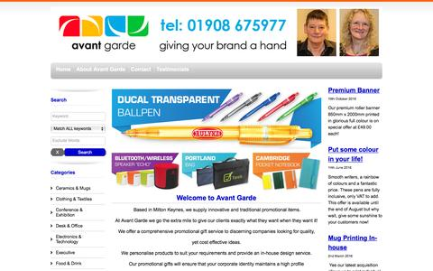 Screenshot of Home Page ag-gifts.co.uk - Branded Promotional Gifts Corporate Clothing   AG Gifts Milton Keynes - captured Nov. 21, 2016