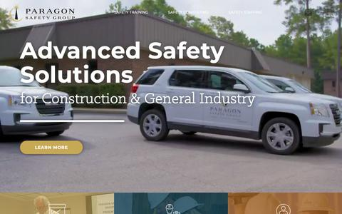 Screenshot of Home Page paragonsafetygroup.com - Safety Staffing, Consulting & Training | Paragon Safety Group - captured Sept. 26, 2018