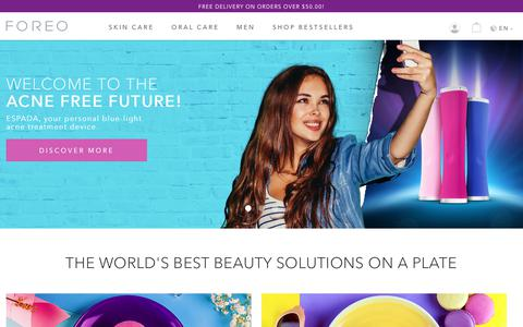 Screenshot of Home Page foreo.com - LUNA Facial Cleansing Brushes & ISSA Electric Toothbrushes | FOREO - captured June 5, 2017
