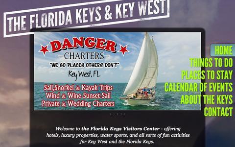 Screenshot of Home Page thefloridakeysvisitorcenter.com - the florida keys visitors center - Home - captured Oct. 7, 2014