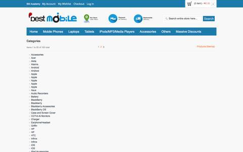 Screenshot of Site Map Page bestmobileltd.com - Buy Mobile Gadgets Online in Nigeria Site Map  | Bestmobile Limited - captured Jan. 1, 2016