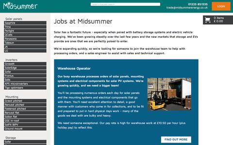Screenshot of Jobs Page midsummerwholesale.co.uk - Midsummer Wholesale - captured Sept. 23, 2018