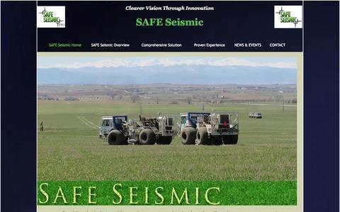 Screenshot of Home Page safeseismic.com - SAFE Seismic - captured Sept. 30, 2014