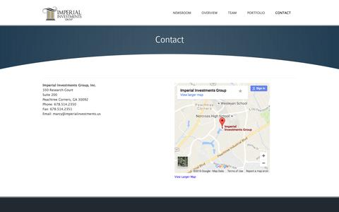 Screenshot of Contact Page imperialinvestmentsgroup.com - Contact ‹ Imperial Investments - captured Nov. 26, 2016