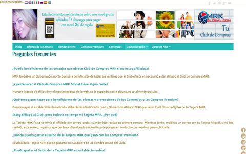 Screenshot of FAQ Page mrkglobal.com - Preguntas Frecuentes MrkGlobal - captured Oct. 26, 2014