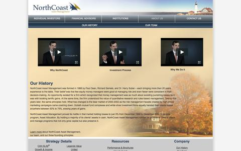 Screenshot of About Page northcoastam.com - NorthCoast Asset Management: About - captured Oct. 26, 2014