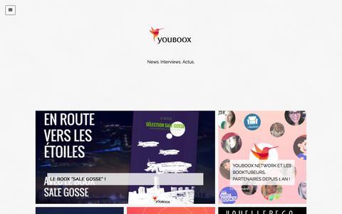 Screenshot of Blog youboox.fr - Youboox - captured Jan. 18, 2016