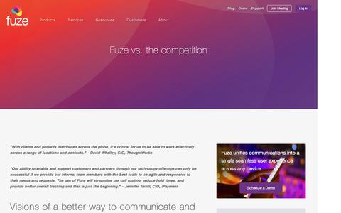 Screenshot of fuze.com - Fuze vs. the competition | Fuze - captured May 11, 2017