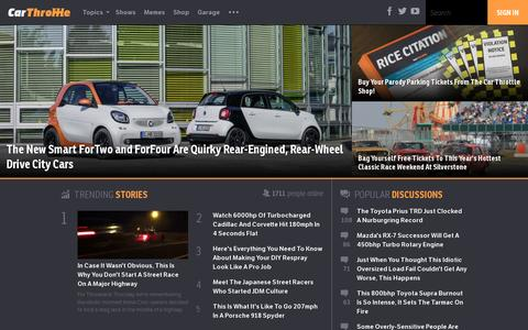 Screenshot of Home Page carthrottle.com - Car Throttle - The Internet's Car Community - captured July 17, 2014