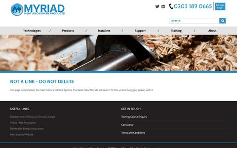 Screenshot of About Page Support Page myriadceg.com - Not a link - DO NOT DELETE | Myriad Heat & Power Products - captured Nov. 3, 2017