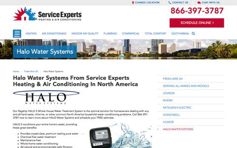 Get Halo Water Systems in North America | Service Experts