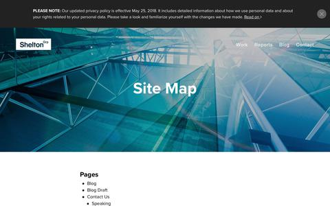Screenshot of Site Map Page sheltongrp.com - Sitemap - Shelton Group :: Experts in Sustainability and Energy Marketing - captured Oct. 19, 2018