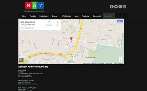 Screenshot of Contact Page networkav.com.au - Contact Us - Network Audio VisualNetwork Audio Visual - captured Oct. 26, 2014
