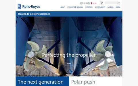 Screenshot of Home Page rolls-royce.com - Rolls-Royce - captured Jan. 26, 2016