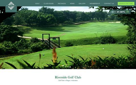 Screenshot of Home Page riverside-golf.com - Tropical Golf Site in Indonesia | Riverside Golf Club - captured June 29, 2018
