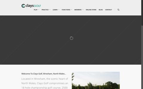 Screenshot of Home Page claysgolf.co.uk - Clays Golf Course Wrexham | Driving Range & American Golf Store - captured July 21, 2015