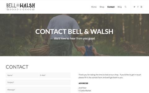 Screenshot of Contact Page bellandwalsh.co.uk - Contact - Bell & Walsh - captured Nov. 6, 2018