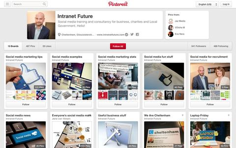 Screenshot of Pinterest Page pinterest.com - Intranet Future on Pinterest - captured Oct. 27, 2014
