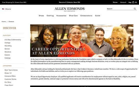 Screenshot of Jobs Page allenedmonds.com - Careers - captured Sept. 19, 2018