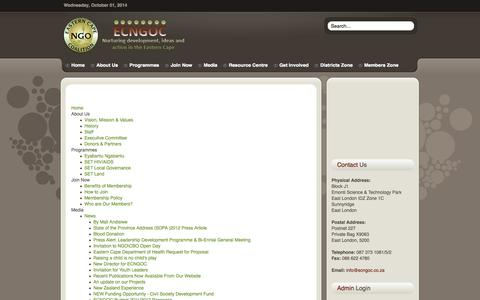 Screenshot of Site Map Page ecngoc.co.za - Sitemap - captured Oct. 1, 2014