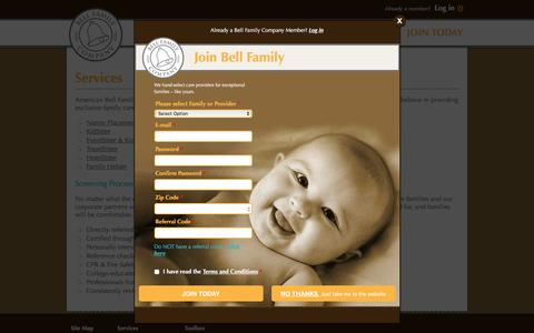 Screenshot of Services Page bellfamilycompany.com - Bell Family Company - captured Feb. 6, 2016