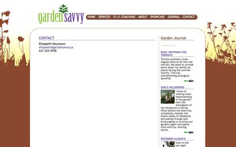 Screenshot of Contact Page gardensavvy.ca - Contact «  GardenSavvy - captured Sept. 26, 2014