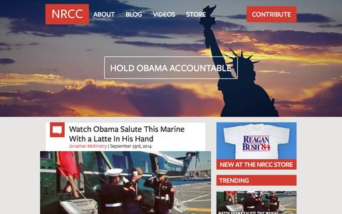 Screenshot of Home Page nrcc.org - Home - National Republican Congressional Committee www.nrcc.org - captured Sept. 23, 2014