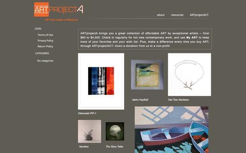 Screenshot of Home Page artprojecta.com - ART Project A | Art on line | Contemporary Art Gallery - captured July 28, 2018