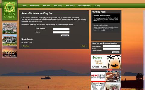 Screenshot of Signup Page greencorfu.com - Sign up Green Corfu | - captured Dec. 14, 2015