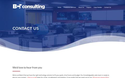 Screenshot of Contact Page bctconsulting.com - Contact Us - BCT Consulting, Inc. - captured Nov. 9, 2019