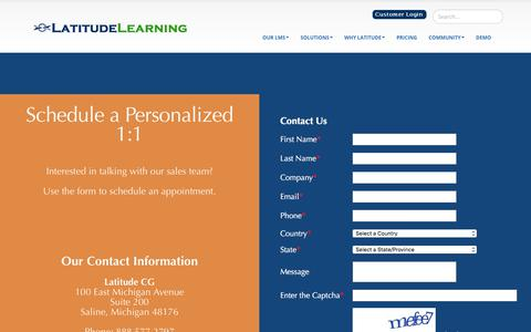 Screenshot of Contact Page latitudelearning.com - Contact Sales - captured Oct. 12, 2019