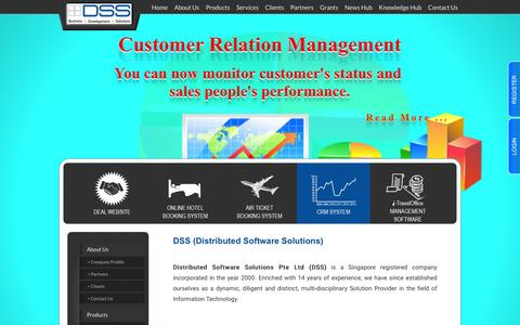 Screenshot of About Page dss.com.sg - Distributed Software Solution Pte Ltd. - captured Feb. 8, 2016