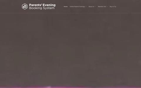 Screenshot of Home Page parents-booking.com - Parents' Evening Booking System - Software for Schools - captured Jan. 25, 2016