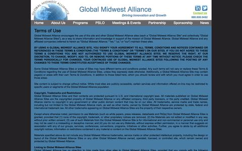 Screenshot of Terms Page globalmidwestalliance.org - Terms-of-Use - captured Sept. 30, 2014