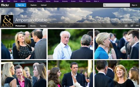 Screenshot of Flickr Page flickr.com - Flickr: AmpersandStable's Photostream - captured Oct. 23, 2014